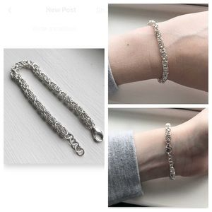 NWOT Sterling Silver Chainmaille Bracelet